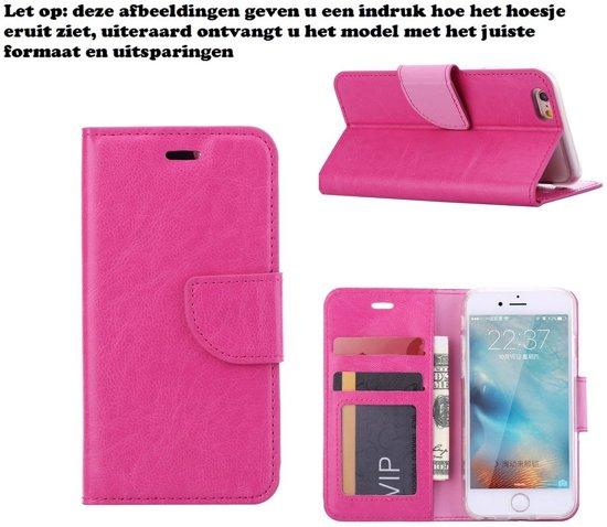 Xssive Hoesje voor Samsung Galaxy Core Plus G3500 Boek Hoesje Book Case Pink in Zaffelare