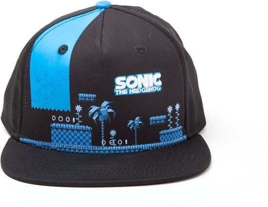 Sega - Sonic Groen Hill Zone - Pet - Snapback - Blauw 93cb06aff8b