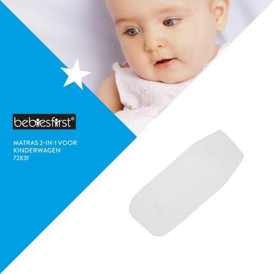 Bebies First - Matras voor de Kinderwagen - Wit