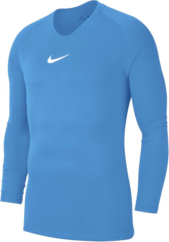 Nike Park Dry First Layer Longsleeve  Sportshirt - Maat M  - Mannen - licht blauw/wit