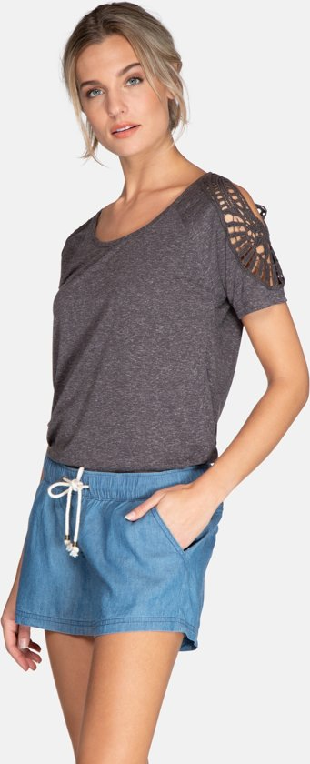 Leila Dames T-shirt - Dark Earth Maat L/40 VR9lDGAC