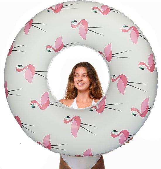 Opblaasbare Zwemband / Zwemring met Flamingo Opdruk voor Kinderen en Volwassenen Inclusief Reparatieset  – Ø 119cm – Vanaf 3 Jaar | Zwembanden Opblaasbaar | Luchtbed | Zwembad Speelgoed Kind