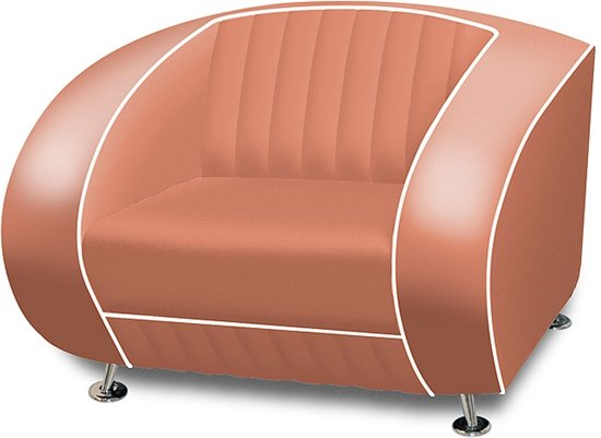 Bel Air Retro Fauteuil SF-01 Dusty Rose