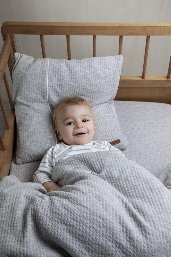 Little Dutch Ledikantdeken pure & soft - pure grey