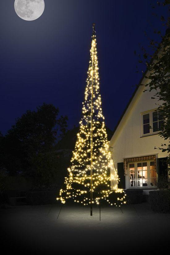 fairybell vlaggenmast kerstboomverlichting lengte 600 cm 900 warm led lampjes