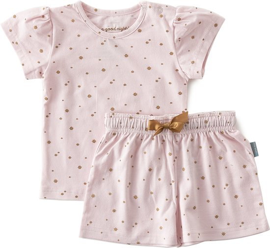 Babykleding Zomer.Bol Com Little Label Zomer Pyjama Baby Meisjes Pink Copper Stars