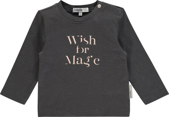 Noppies Meisjes T-shirt Waukesha - Charcoal - Maat 62