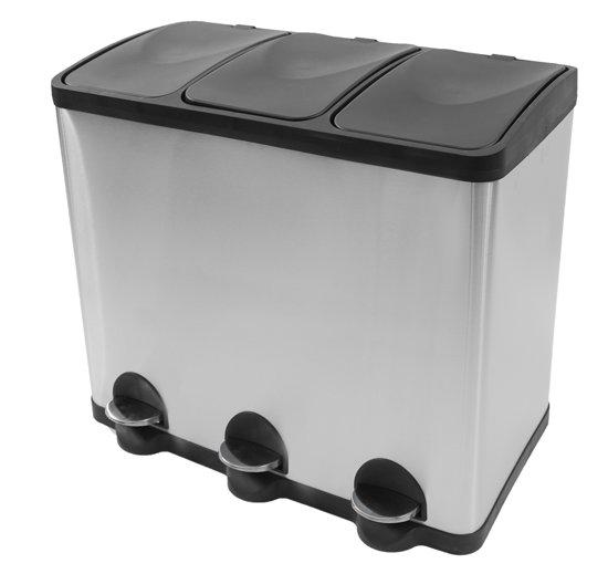 Afvalbak Keuken Plastic : bol.com Prullenbak Steeldesign Trio Maxi Pedaalemmer – 3 x 20 l