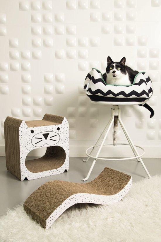 Beeztees Ligy Kattenmand - Zwart/Wit - 48 x 37 x 16 cm