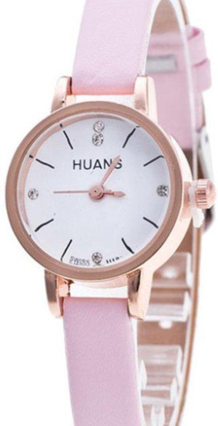 Horloge- 22 mm- Huans- Roze