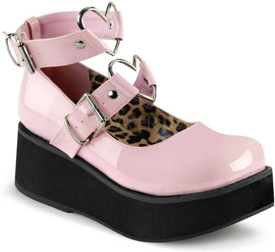Pinkeu Heart Rings StrapsBuckles Sprite 02 Ankle With Metal 40Us 10Demonia Shoe Patent And QxodCWErBe
