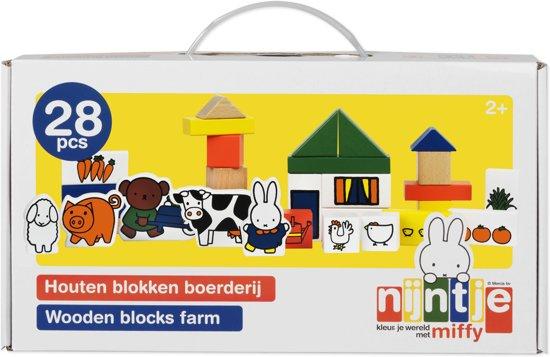 Afbeelding van Nijntje Houten Blokken Boerderij speelgoed