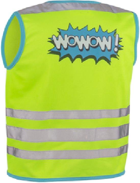 Wowow Kids Wowow! Jacket Groen M - fluohesje voor kind - EN 1150