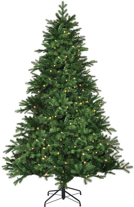 Black box kunstkerstboom led brampton spruce maat in cm: 155 x 107 groen 140 lampjes met warmwit led
