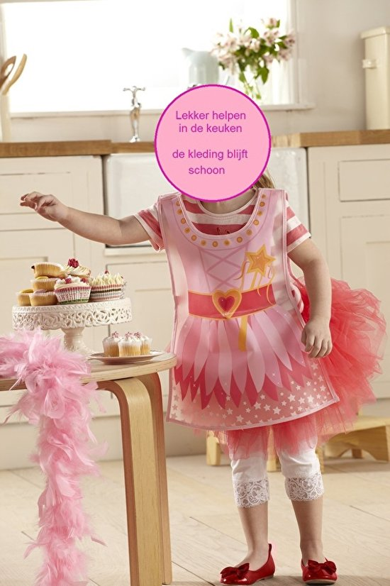 Cooksmart Prinses Peva kliederschort / knutselschort / kinderschort