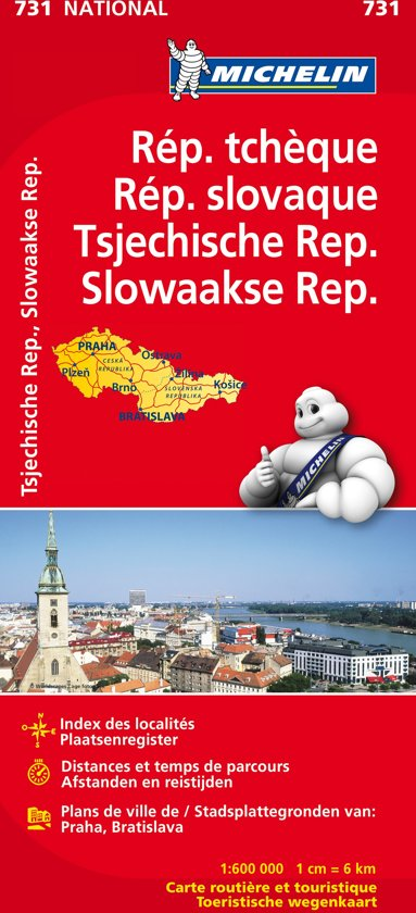 Rep. tcheque & slovaque / tsjechische rep. & Slowakije 11731 carte ' national ' michelin kaart
