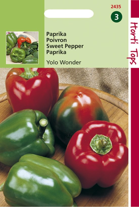 Hortitops Zaden - Paprika Yolo Wonder