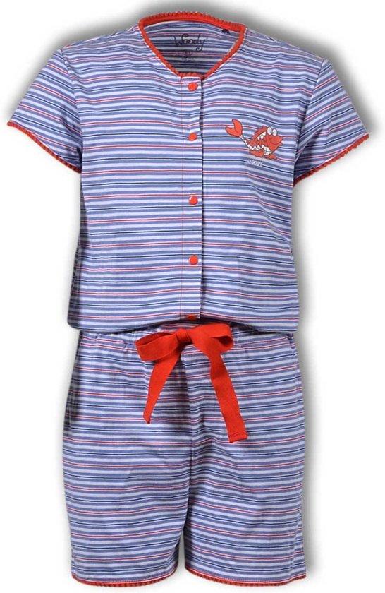 Woody onesie meisjes - kooi - streep - 191-1- ond-s/986 - maat 116