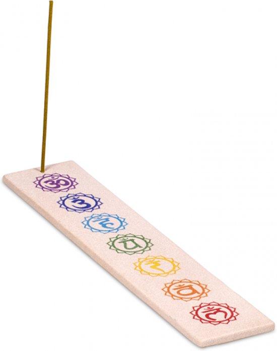 Wierookplankje zandsteen zeven chakra's langwerpig (25,5x5 cm)(2 stuks)