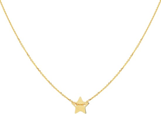The Fashion Jewelry Collection Ketting Ster 1,0 mm 40 - 42 cm - Geelgoud