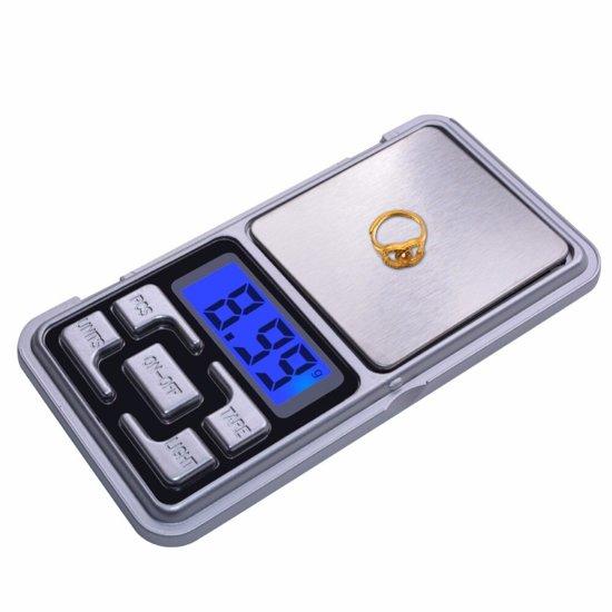 Precisie weegschaal - Digitale weegschaal - keuken weegschaal - Discrete weegschaal in sigaretverpakking. 0-100g met 0.01g precisie - NIEUW