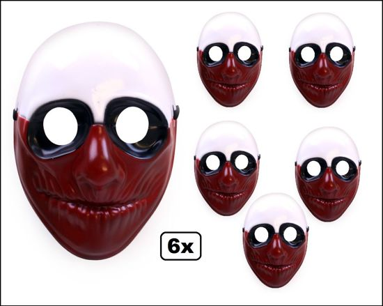 6x Halloween Masker Blood face
