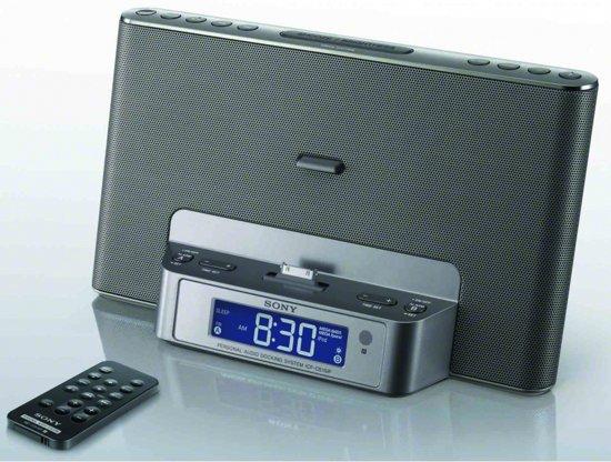 Sony ICF-DS15IPS - Wekkerradio - Zilver