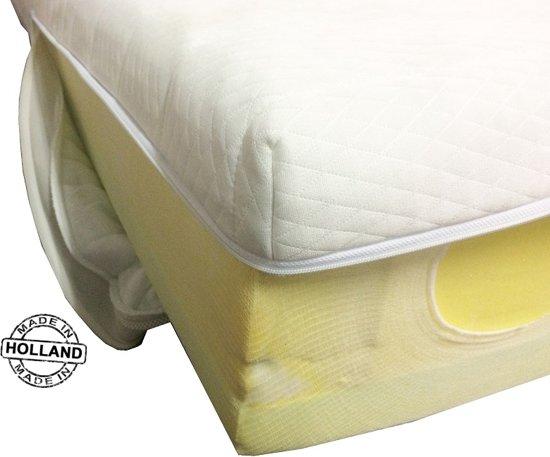 Slaaploods.nl Matrashoes Met Rits - Comfort - Anti Allergie - 120x200 cm - Hoogte 14 cm