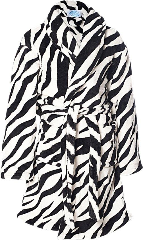 Kinderbadjas zebra maat S(5-6jaar)
