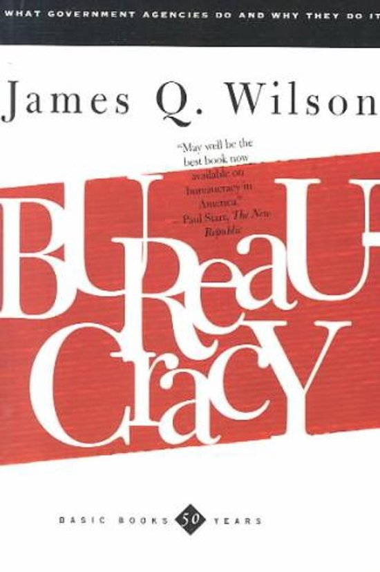 Boek cover Bureaucracy van James Wilson (Paperback)