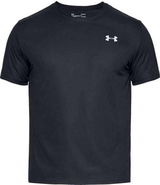Under Armour Speed Stride Shortsleeve Sportshirt Heren - Zwart - Maat S