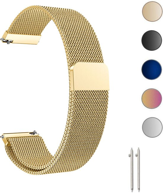Universele Milanese Loop Armband Voor Smartwatch / Activity Tracker Horloge Band Strap - Milanees Armband Polsband - Goud Kleurig