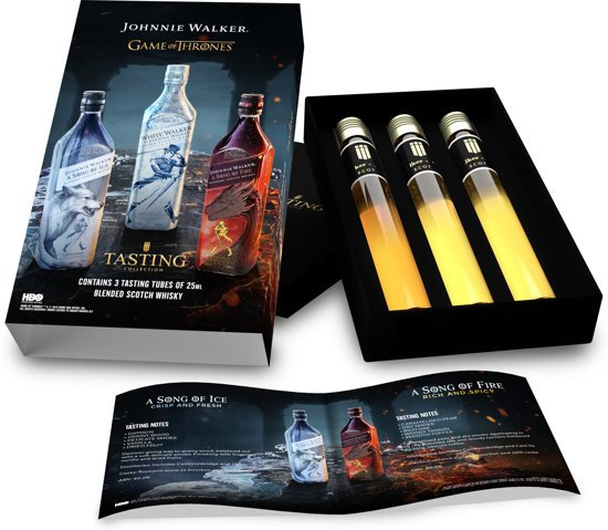Tasting Collection Game Of Thrones Johnnie Walker Whisky Proeverij - 3 tubes