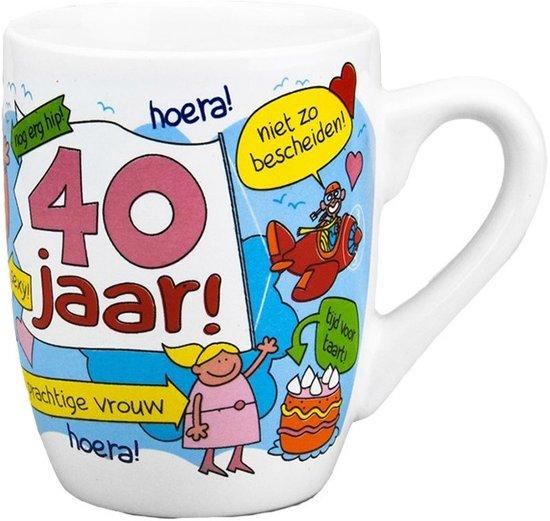 Populair bol.com | Cartoon mok 40 jaar vrouw, 123 Kado koffiemokken | Speelgoed @VE11