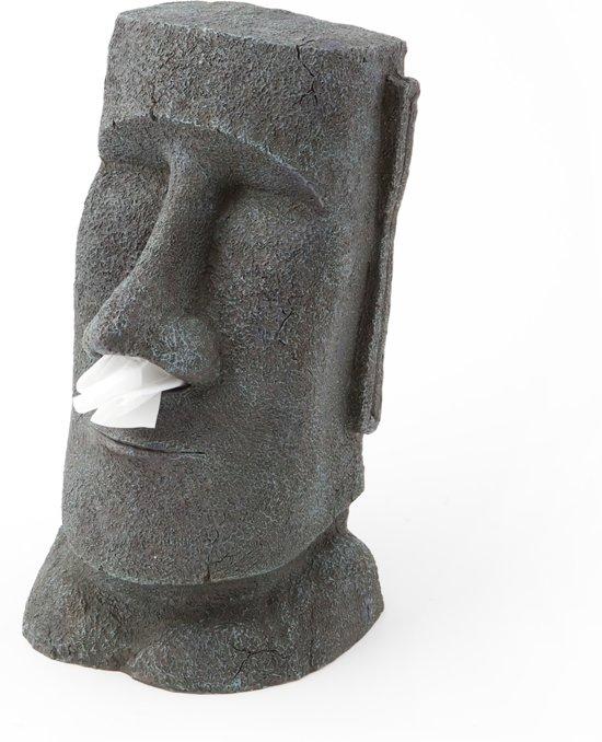 Populair bol.com   Rotary Hero Moai Tissue Box Houder - Tissuehouder - Grijs &LO26