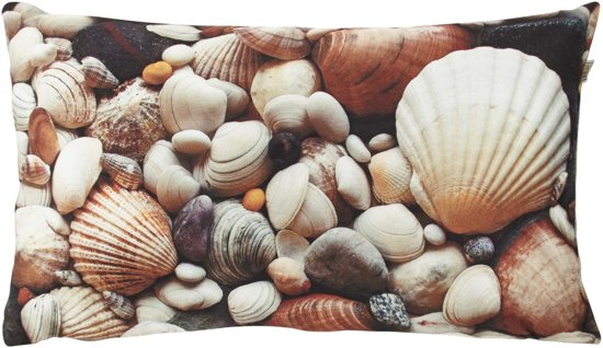 Dutch Decor Shell - Sierkussenhoes - Taupe - 30x50 cm