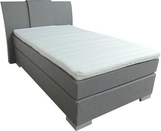 Slaaploods.nl Zeus - Boxspring inclusief matras - 120x200 cm - Grijs