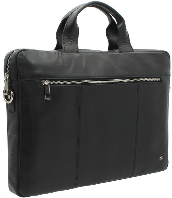 Visconti Merlin leather Charles Messenger Bag - ML28bk