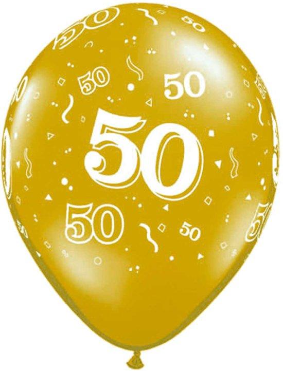 50 jaar ballonnen bol.  Gouden 50 Jaar Ballonnen 28cm   25 stuks, Qualatex  50 jaar ballonnen