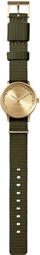 Tube watch T32 brass / green nato strap