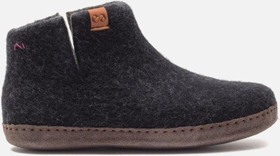 Green Comfort sloffen  handgemaakte nepalese pantoffels 15242 black-maat 38