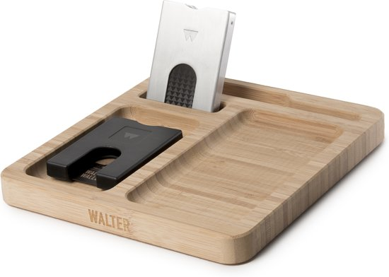 8945d563355 Walter Wallet Giftset Bamboo Dock + 2x Creditcardhouder - Black/Aluminium  RAW