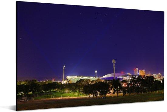 Het Australische stadion Adelaid Oval tijdens de avond Aluminium 180x120 cm - Foto print op Aluminium (metaal wanddecoratie) XXL / Groot formaat!
