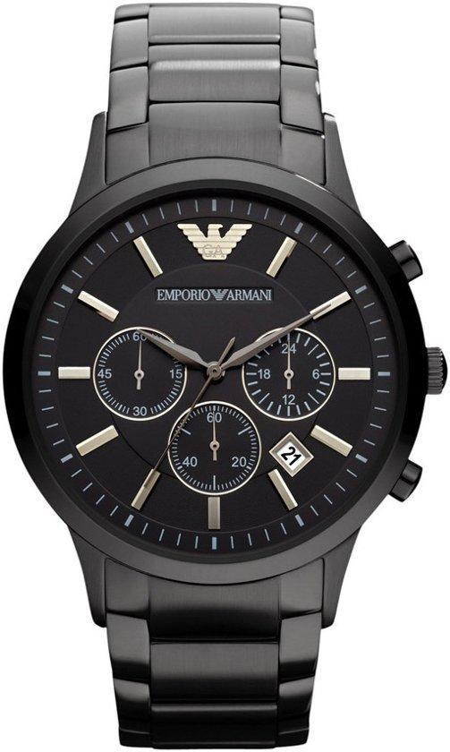 Emporio Armani AR2453 - Horloge - Staal - Zwart - Ø 43 mm