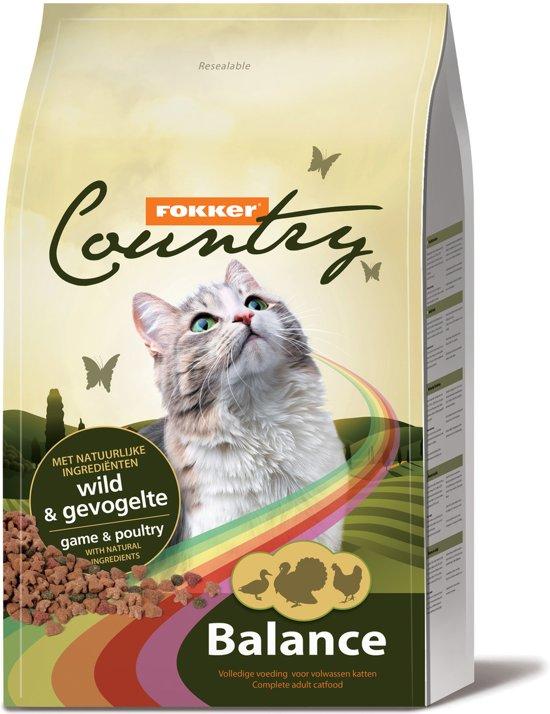 fokker country balance - wild en gevogelte - kattenvoer - 10 kg