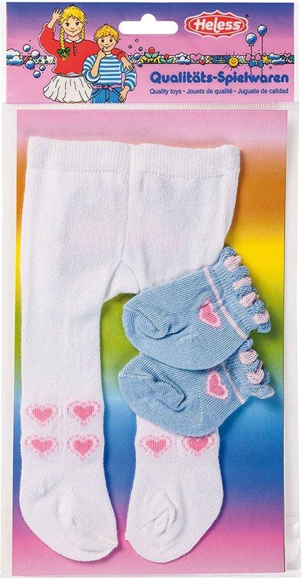 Heless Poppenmaillot En Sokken Blauw/roze 35-45 Cm
