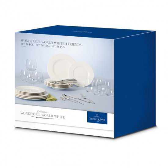 Villeroy & Boch Wonderful World White 4 Friends Serviesset 36-delig