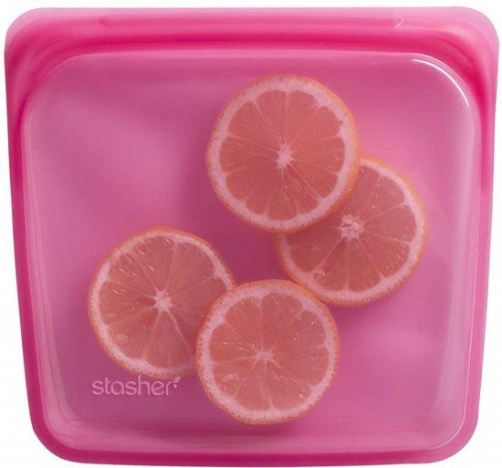 Stasher - Vershoudzakje hersluitbaar en luchtdicht  - Roze