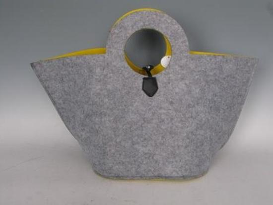 vilt tas geel met rond handvat VDOStyle