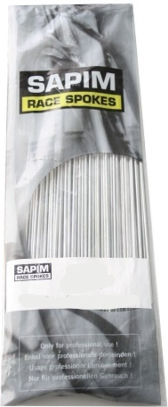 Sapim Spaken 14g - 155 Mm Zonder Nippel Staal 144 Stuks